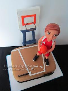 basketball field cake birthday