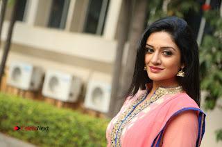 Actress Vimala Raman Stills in Beautiful Pink Salwar Kameez at (ONV) Om Namo Venkatesaya Press Meet  0282.JPG