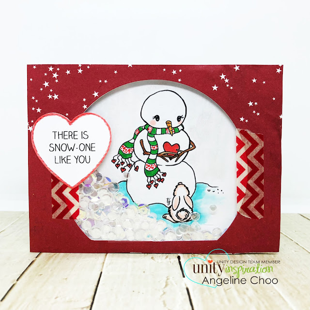 ScrappyScrappy: July Blog Hop with Unity Stamp - Snowglobe Snowman card #scrappyscrappy #unitystampco #tyoutube #quicktipvideo #card #cardmaking #craft #crafting #christmas #christmascard #snowglobe #snowman  #shakercard #sequins