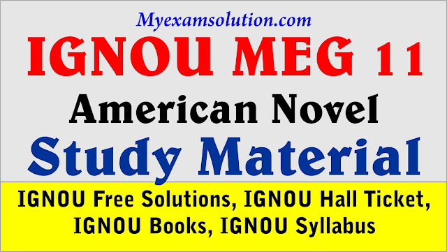 IGNOU MEG 11, ignou study material, american novel