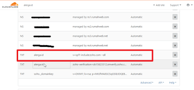 settingan SPF untuk email pada custom domain blogger