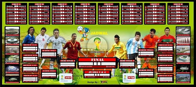 Jadwal, Hasil, Skor Pertandingan Piala Dunia Terlengkap, Tercepat Dan Terupdate