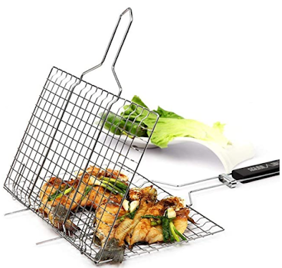 Emndr Chromium Plated Barbecue BBQ Grill Net Basket for Fish