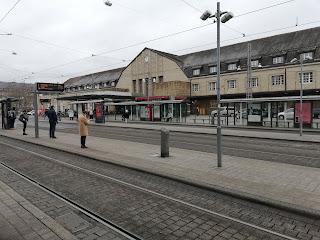 Банхофплац, ж/д вокзал Карлсруэ