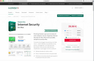 Programma Kaspersky Internet Security per Mac