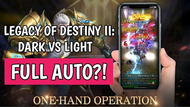 Legacy of destiny ii: dark vs light mobile game gameplay