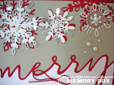 merry snowflakes card detail