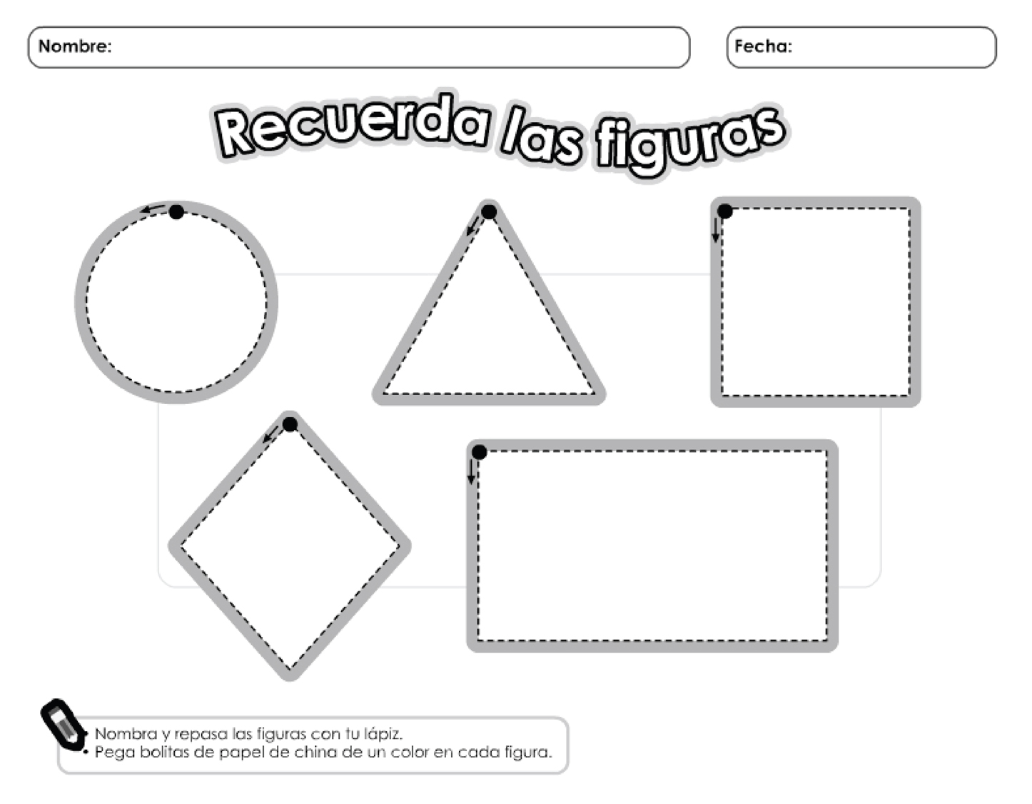 Recuerda Las Figuras Geometricas Material Para Maestros