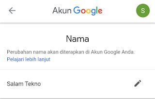 nama akun gmail