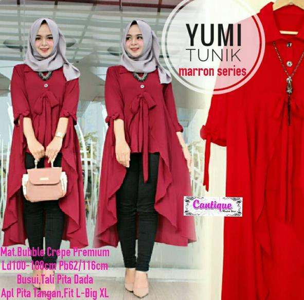 41 Model Blus Tunik Muslimah Gaul 2019 Model Baju  Muslim