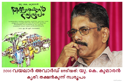 Current malayalam literary awards and prizes