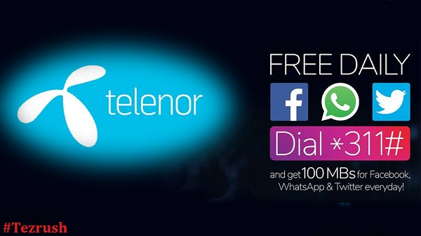 Telenor Free WhatsApp 2018 Latest Offer TezRush