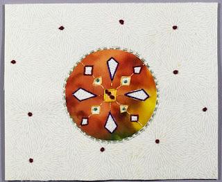 Mandala meditative stitching