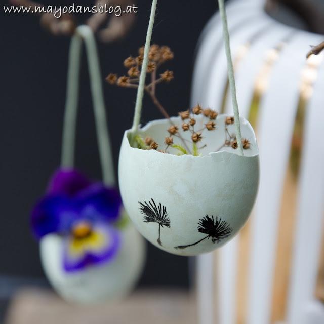 Blumenvase aus Eierschale