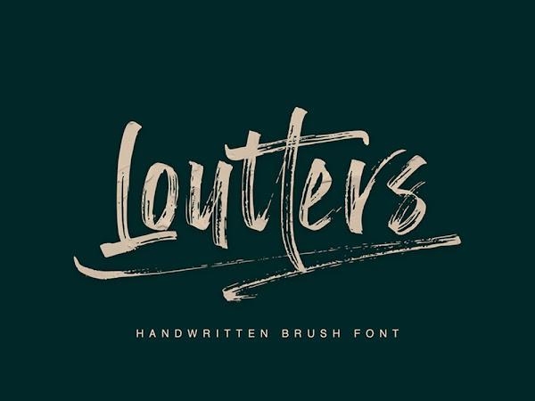 Loutters Brush Font
