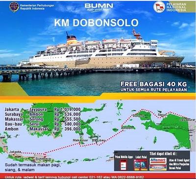 Kapal Pelni Dobonsolo Jadwal Harga Tiket Desember 2020