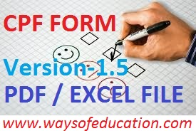 CPF Form (Pdf File And Excel File)  (Version-1.5)
