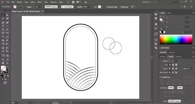 Badge Logo in Illustrator