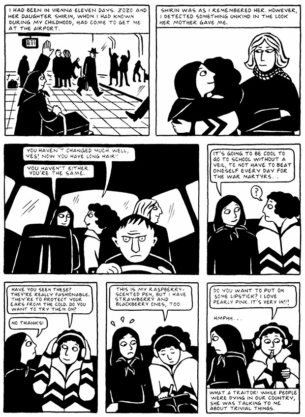 Read Chapter 1 - The Soup, page 2, from Marjane Satrapi's Persepolis 2 - The Story of a Return