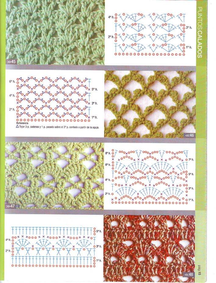 Patrones asgaya puntos calados crochet for Catalogo puntos bp