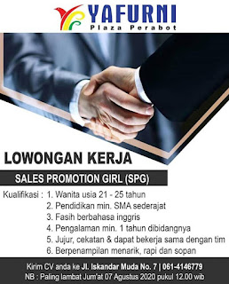 Sales Promotion Girl di Yafurni Plaza Perabot