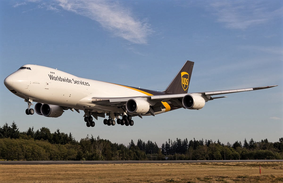 Boeing 747-8F UPS Worldwide Services Newest Delivery ...