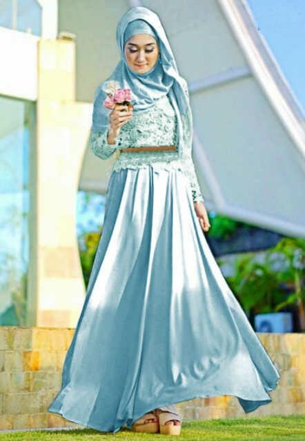 Model Baju Muslim Gamis Rompi Blazer dian Pelangi Terbaru