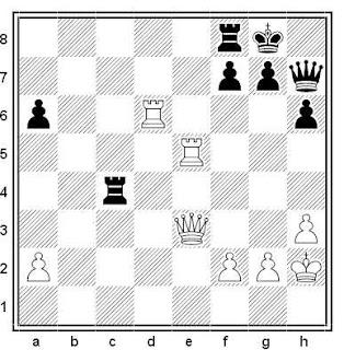 Posición de la partida de ajedrez Julius Armas - Carlos García Palermo (Rogaska/Bled, 1990)