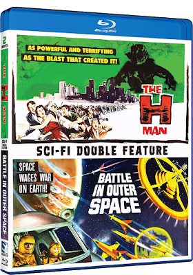 Cover art for Mill Creek's Toho Double Feature of THE H-MAN & BATTLE IN OUTER SPACE!