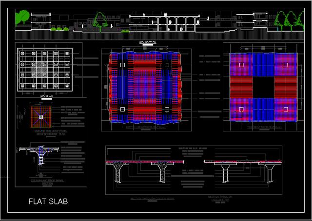 ملف اتوكاد لتوضيح حديد تسليح  Flat Slab
