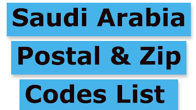 Saudi Arabia Postal & Zip Codes List