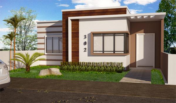 26 inspira es de fachadas de casas simples e pequenas for Planos y fachadas de casas pequenas de dos plantas