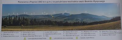 Panorama z Paproci - opis.