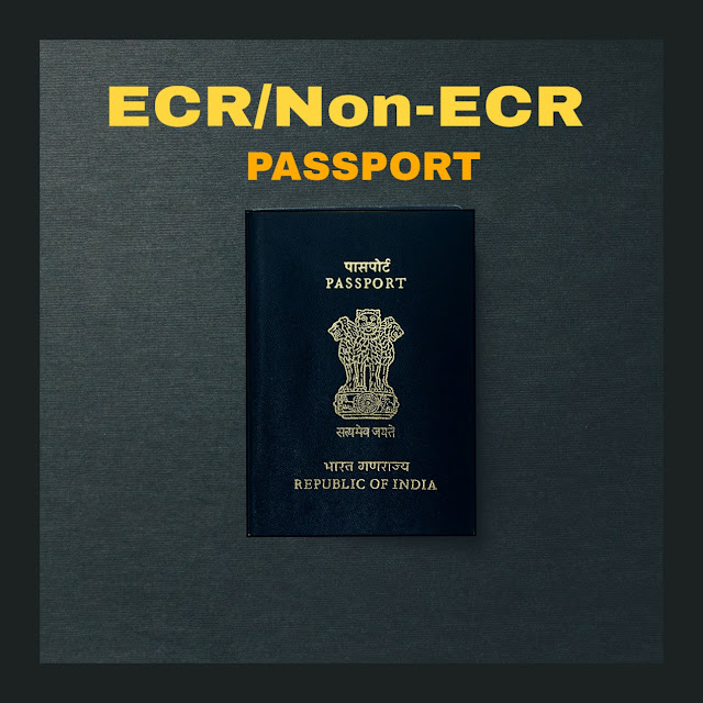 Ecr passport and non-ecr passport