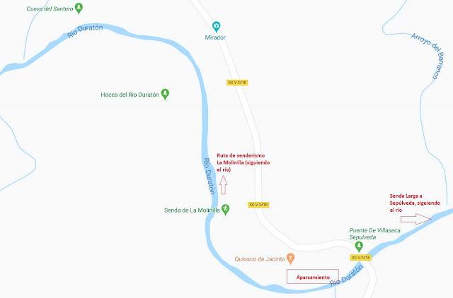 mapa de senderismo Hoces del Duratón