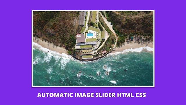 image slideshow html