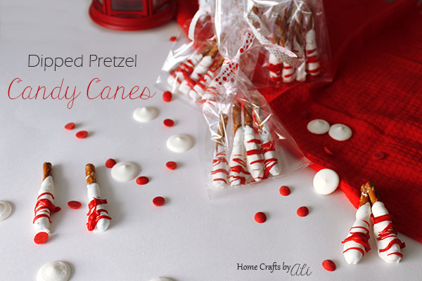 easy diy gift treats dipped pretzel candy cane