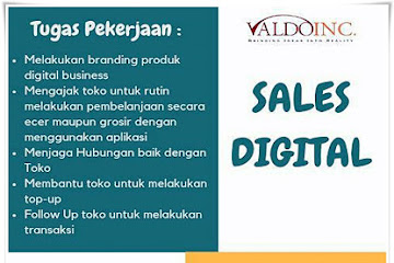 Lowongan Kerja Karyawan Sales Digital Valdo Inc