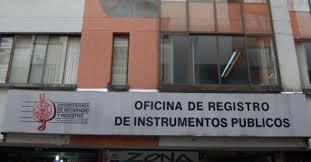 oficina de registro de Instrumentos publicos