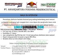 Karir Surabaya di PT. Asiasejahtera Perdana Pharmaceutical Januari 2020
