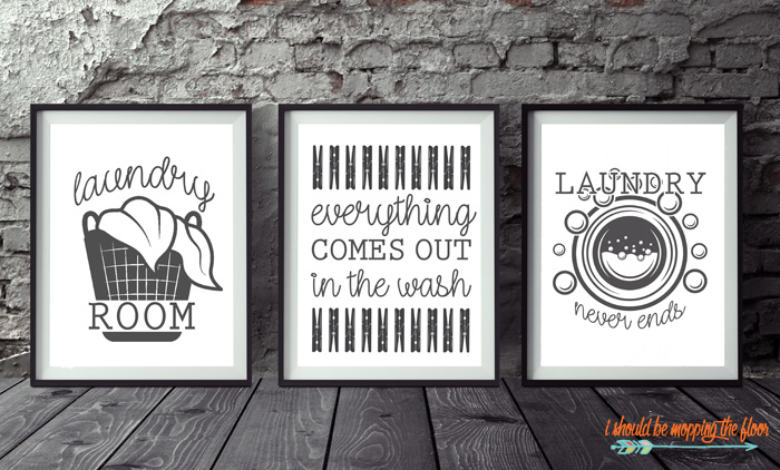 Printables for a Laundry Room