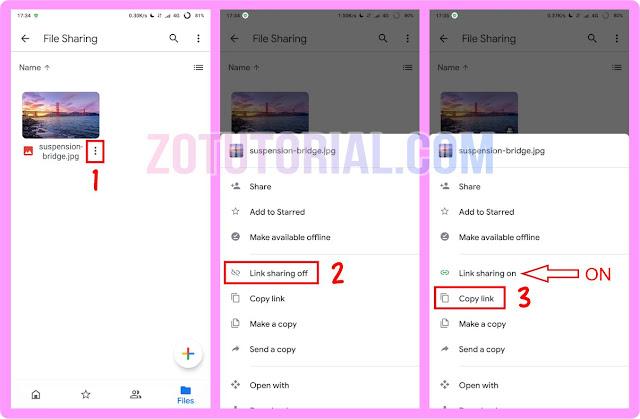 Cara Upload dan Sharing File Google Drive dari HP Android