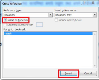 What is Cross Reference and its use in Ms Word in Hindi