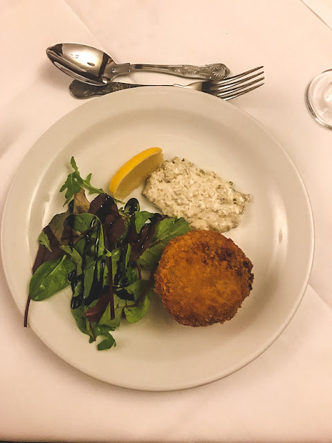 Dunsley Hall Country hotel restaurant East Coast fish cake