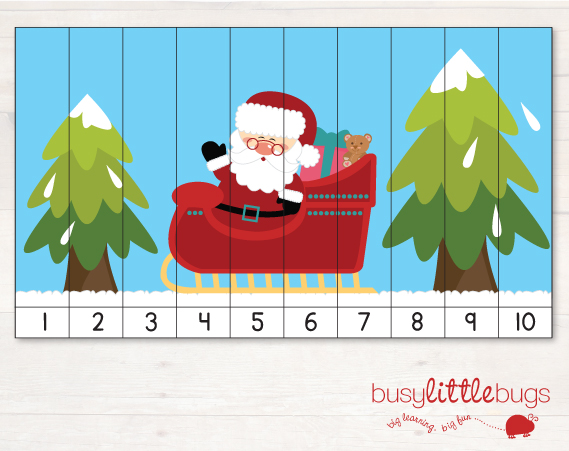 http://www.busylittlebugs.com.au/freebie-friday-christmas-number-puzzle-2/