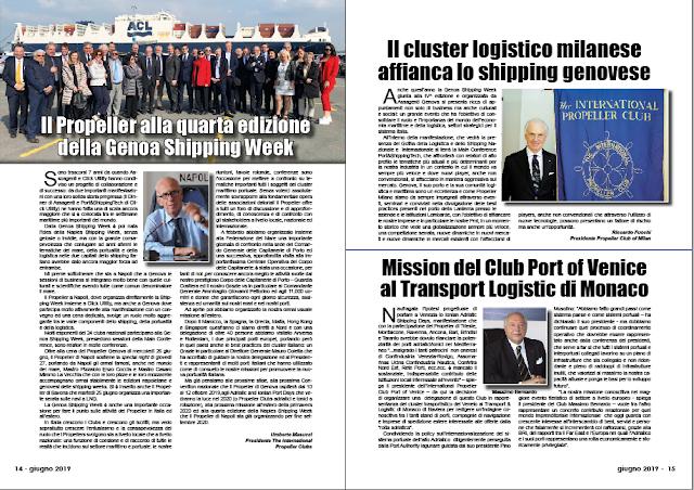 GIUGNO 2019 PAG. 14 - Il Propeller alla quarta edizione della Genoa Shipping Week
