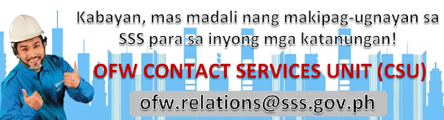 List of SSS Contact numbers for OFW's abroad