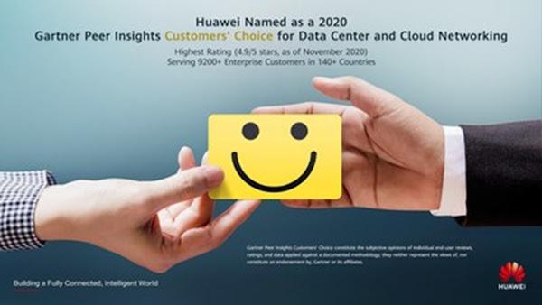 Huawei obtém classificação máxima do Gartner Peer Insights na categoria Data Center e Cloud Networking