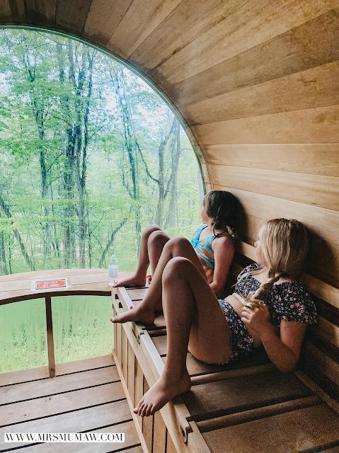 hocking hills sauna pods