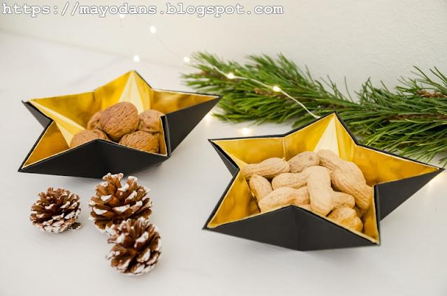 weihnachtliche Sternenschale aus Papier